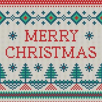 Vector kerst ornament op de gebreide textuur