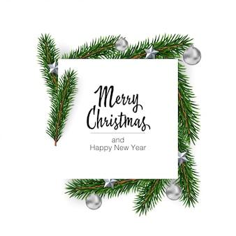 Vector kerst vierkante gevormde lay-out achtergrond