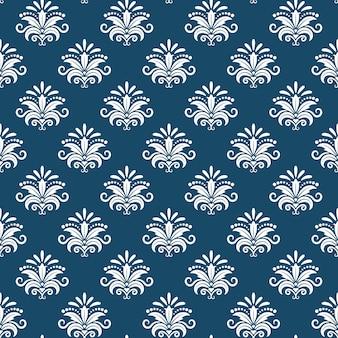 Vector klassiek damast naadloos patroon. ontwerp renaissance, heropleving barok, luxe koninklijke eindeloze, vector illustratie