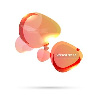 Vector kleur achtergrond abstracte cirkels.