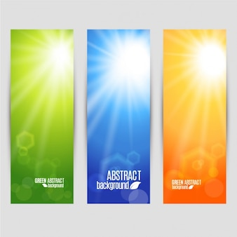 Vector kleuren set banners glans