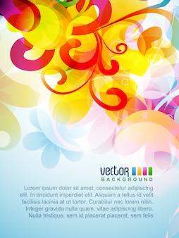 Vector kleurrijk bloemen kunstwerk ontwerp