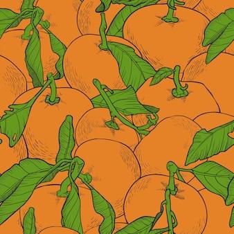 Vector kleurrijk naadloos patroon, oranje reeks