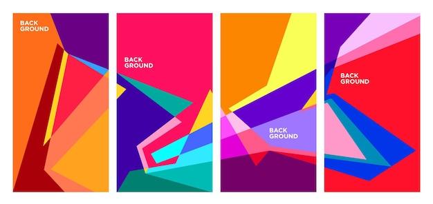 Vector kleurrijke abstracte geometrische en vloeibare achtergrond