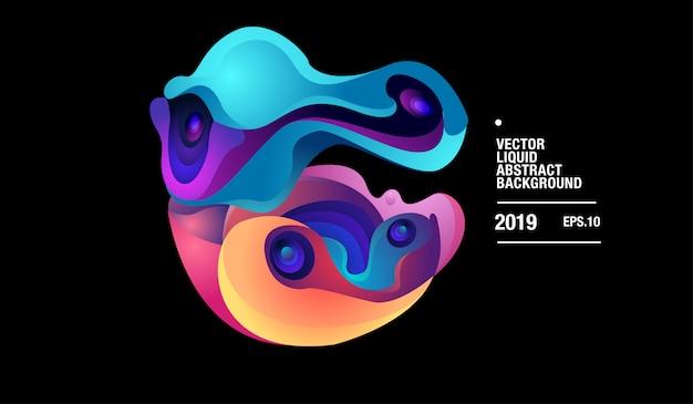 Vector kleurrijke abstracte vloeibare curvy achtergrond