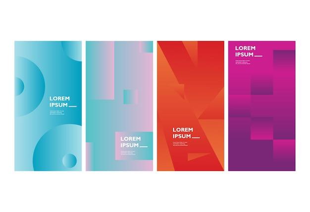 Vector kleurrijke abstracte vloeibare geometrische gradiëntachtergrond premium vector eenvoudige achtergrond