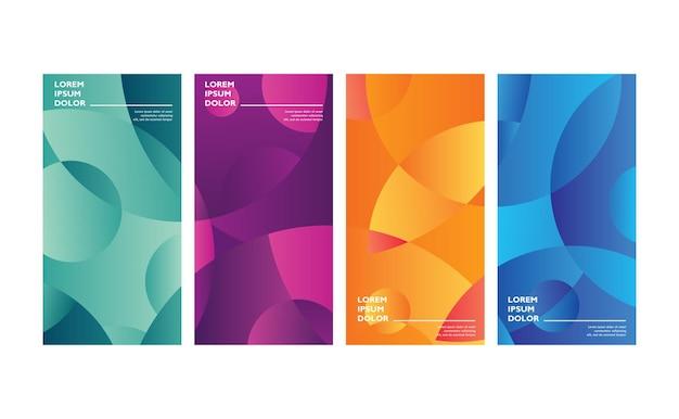 Vector kleurrijke abstracte vloeibare geometrische gradiëntachtergrond premium vector