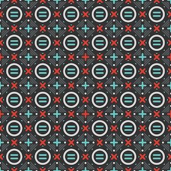 Vector kleurrijke basisvormlijn en ronde naadloze patern geometrische achtergrond