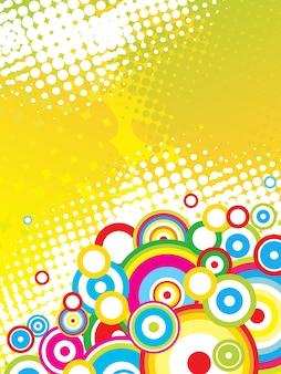 Vector kleurrijke funky stijlvolle cirkels achtergrond