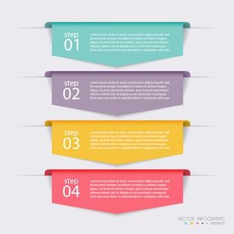 Vector kleurrijke info graphics voor uw bedrijfspresentaties.