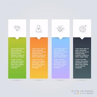 Vector kleurrijke infographic voor uw zakelijke presentaties