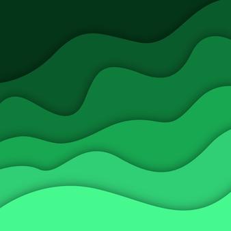 Vector kleurrijke papercut-achtergrond