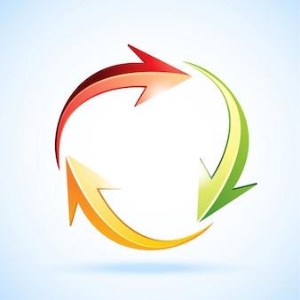 Vector kleurrijke teken van recycle.