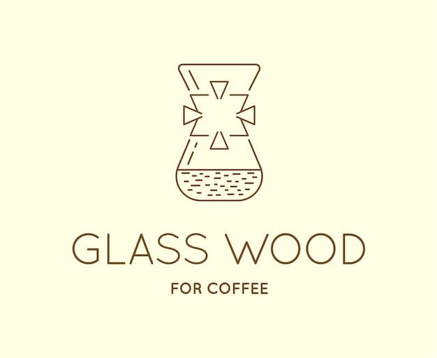 Vector koffie accessoires pictogram met letterteken kan worden gebruikt als logo