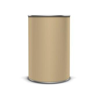 Vector koffie thee verpakking pakket bank jar tin pot geïsoleerd op wit