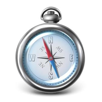 Vector kompas pictogram geïsoleerd op een witte achtergrond