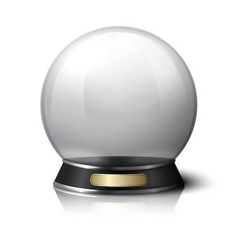 Vector kristallen bol voor waarzeggers