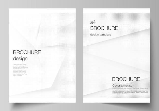 Vector lay-out van een omslag mockups ontwerpsjablonen voor brochure flyer lay-out omslag ontwerp boekontwerp...