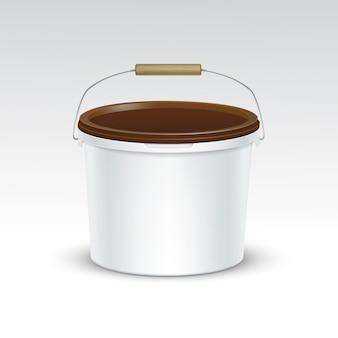 Vector lege plastic emmer container verpakking