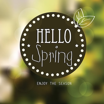 Vector lente landschap achtergrond - vector lente poster