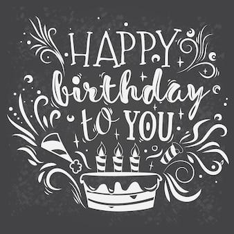 Vector lettering gelukkige verjaardag