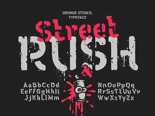 Vector lettertype ingesteld met grunge effect