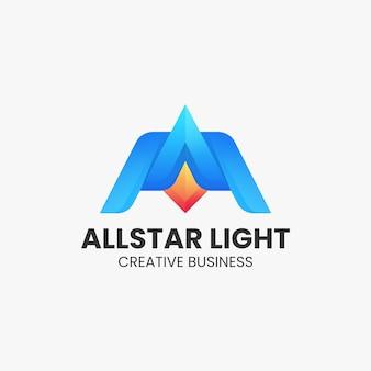 Vector logo illustratie abstracte gradiënt kleurrijke stijl