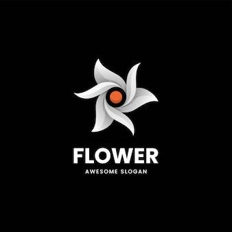 Vector logo illustratie bloem gradiënt kleurrijke stijl