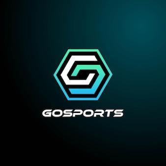 Vector logo illustratie e sport en sport stijl