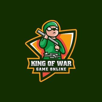 Vector logo illustratie muizen oorlog e sport en sport stijl
