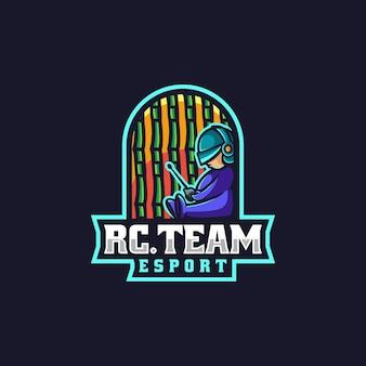 Vector logo illustratie team e sport en sport stijl
