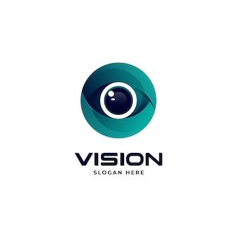 Vector logo illustratie visie gradiënt kleurrijke stijl