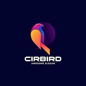 Vector logo illustratie vogel kleurverloop kleurrijke stijl