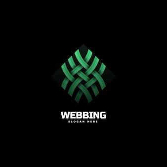 Vector logo illustratie webbing kleurovergang kleurrijke stijl