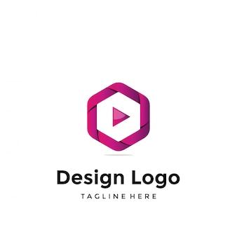 Vector logo-ontwerp, media en video