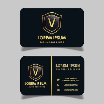 Vector luxe koninklijk visitekaartje
