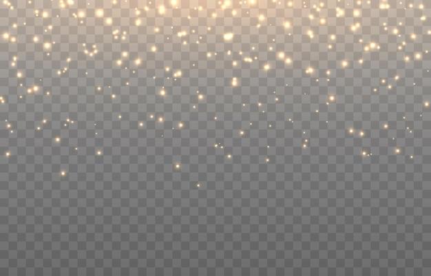Vector magische gloed magisch stof valt uit de lucht glinsterend stof png magisch stof kerstlicht