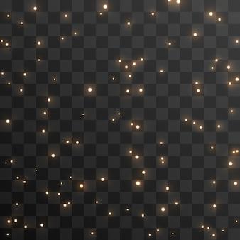 Vector magische gloed sprankelend licht fonkelend stof png sprankelend magisch stof kerstlicht