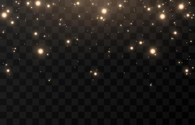 Vector magische gloed. sprankelend licht, sprankelend stof png. glinsterende feeënstof. licht uit de lucht. kerstlicht.