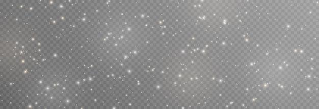 Vector magische gloed witte en gouden stofexplosie van png-deeltjes sprankelend feeënstof