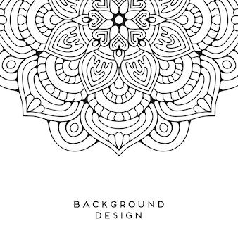 Vector mandala achtergrond
