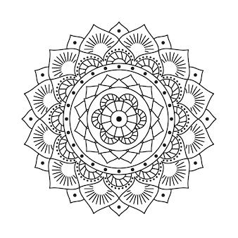 Vector mandala lineair ontwerp