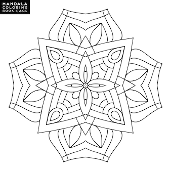 Vector mandala zwarte achtergrond