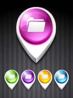 Vector map icon design art