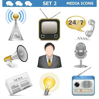 Vector media iconen set 2