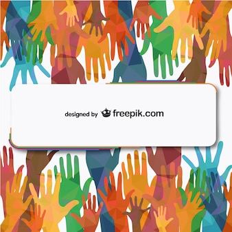 Vector mensen handen reiken vrije illustratie
