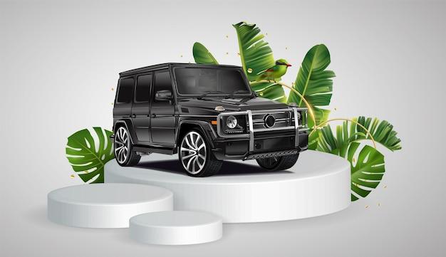 Vector mercedesamg g 63 exclusive edition geïsoleerd op een witte achtergrond
