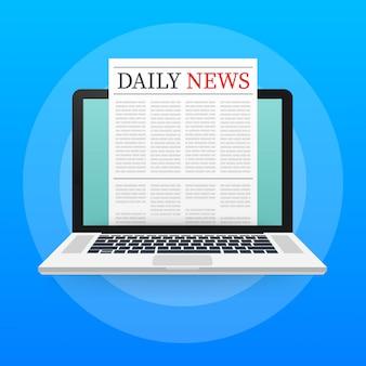 Vector mock up van een lege dagelijkse krant.