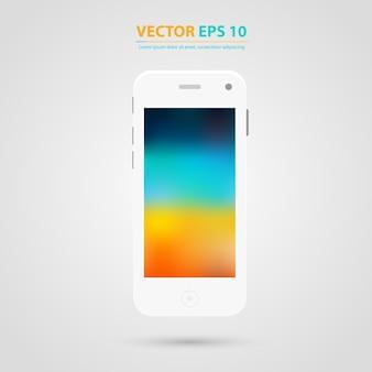 Vector modern touchscreen mobiele telefoon icoon.