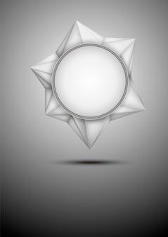 Vector moderne abstracte witte veelhoekige banner.